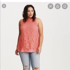 Torrid Lace sleeveless Top
